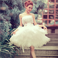 Free shipping 2017 new arrival ball gown short lace sweetheart sequined flower elegant women formal wedding dress