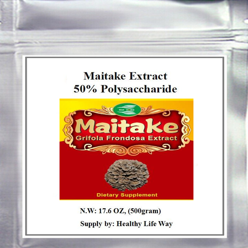 500gram Maitake Extract (Grifola Frondosa ) 50% Polysaccharide Powder free shipping 1pack 100% natural pleurotus ferulae extract powder 30% polysaccharide 500mb x 300caps enhance the bodys immune