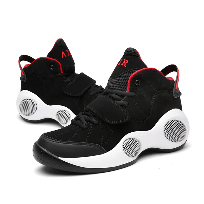 Basketball Shoes Air Basketball Training Boots Shock Absorption Sports Shoes Athletic Sports Shoes Men Sneakers Large Size 48 peak men athletic basketball shoes tech sports boots zapatillas hombres basketball breathable professional training sneakers