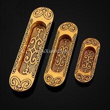 Retro 10PCS Sliding Door Cabinet Furniture Handles European Antique Hidden Recessed Flush Handle Concealed