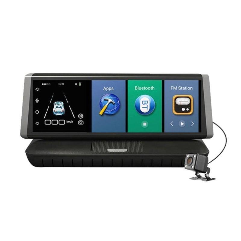 8 pouces écran tactile HD 1080 P double lentille 4G WiFi Android voiture DVR enregistreur vidéo rétroviseur GPS navigateur pièces de voiture Promotion