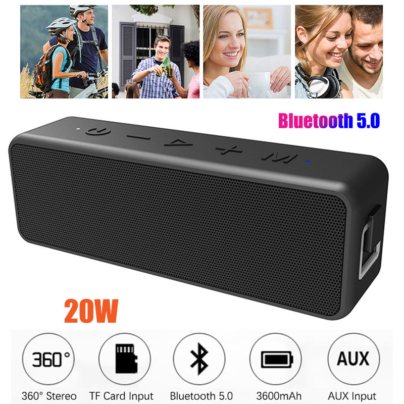 Wirless Bluetooth Lautsprecher Tws 5,0 Bluetoot Stereo Ipx7 Wasserdicht Sweatproof Indoor Outdoor Lautsprecher Bass Mini Tragbare Lautsprecher SchöN In Farbe Lautsprecher