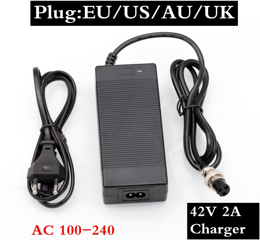 36V 2A Lithium Battery Charger for Electric Bicycle Scooter