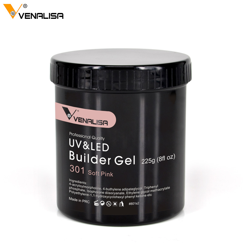 VENALISA Camouflage Soak Off UV LED Jelly Builder 225g Bulk Package Long Lasting Extension 25 Colors Clear