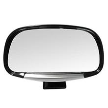 AUTO -Revolving Convex Car Rear View Blind Spot Mirror Black