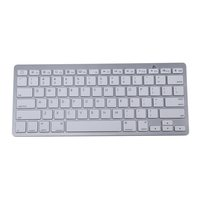 450 Ultra Thin Portable Standard 78 Key Wireless Bluetooth Keyboard For Pad Phone MAC PC Silver