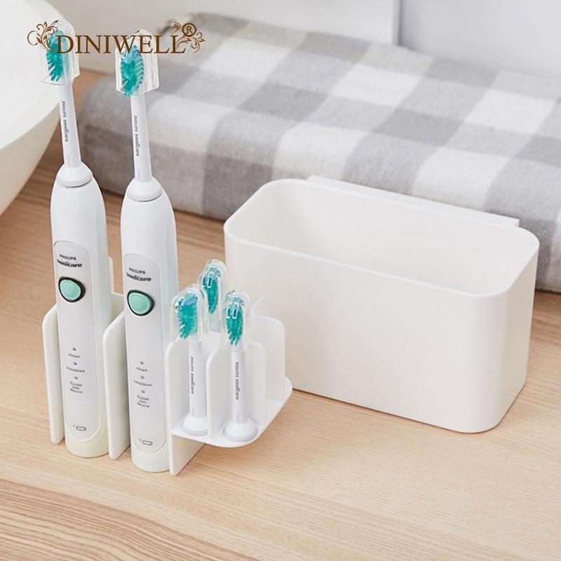 Detachable Storage Box Electric Toothbrush Holder Bathroom Organizer Tooth Brush Dispenser Shelf Toothpaste Storage Racks