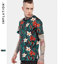 INFLATION 2017 New Arrivals 3D Floral Beauty Full Printing 3D T Shirt Fashion Men Summer Novelty Cool Tops Tees