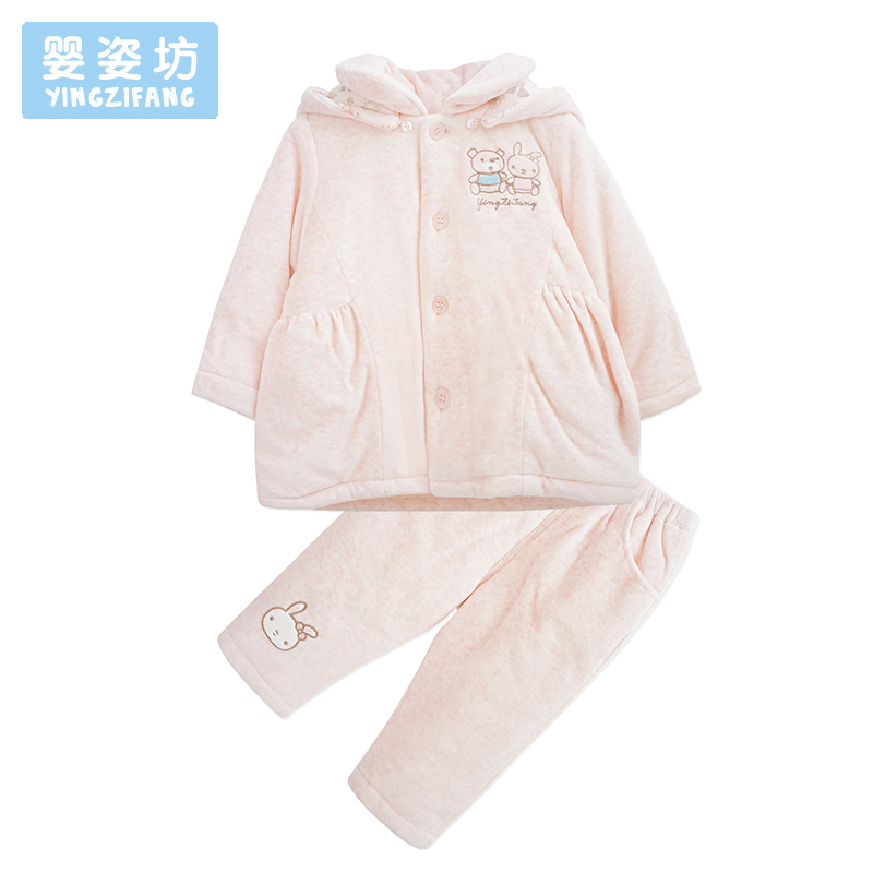 Autumn Winter Newborn Girl Clothing Set Cute Pattern Baby Girls Clothes Thicker Hooded Long Sleeve Cotton Infantil Costume Sets fashion brand autumn children girl clothes toddler girl clothing sets cute cat long sleeve tshirt and overalls kid girl clothes