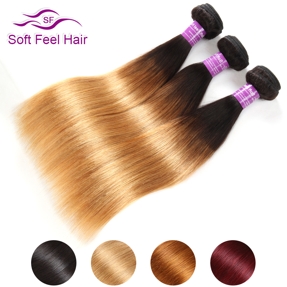 1B/Burgundy 1B/27 1B/30 Ombre Brazilian Straight Hair Bundles Ombre Human Hair Weave 3 Bundles Remy Extensions Soft Feel Hair-in Hair Weaves from Hair Extensions & Wigs    1