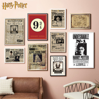 High quality Printing Harry Potter Wanted Order Undesirable coated paper poster Decorative Wall Stickers Home Bar
