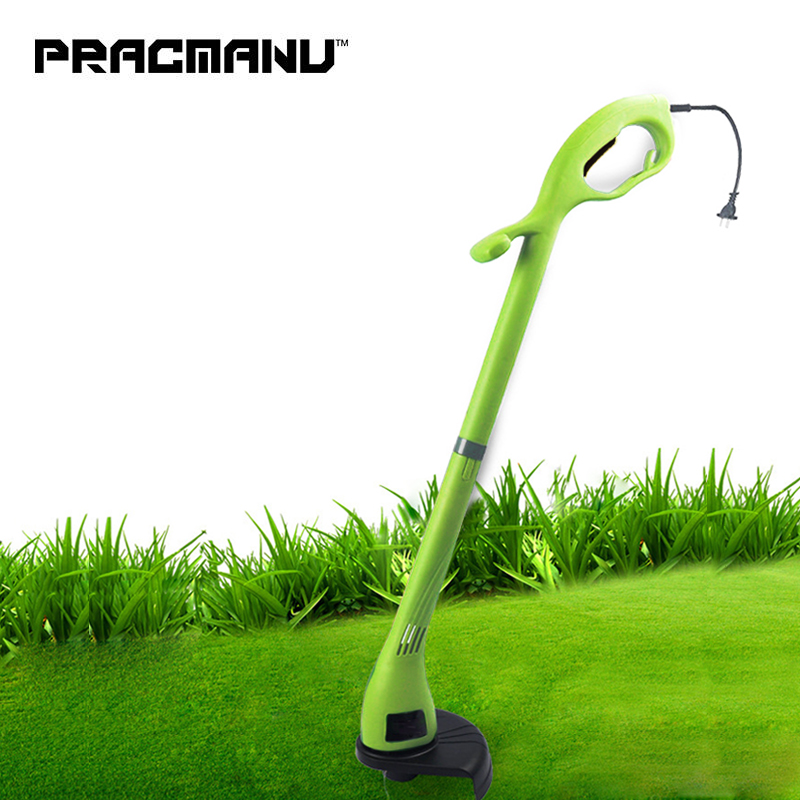 PRACMANU 220v Home Electric Lawn Mower Portable 400W Grass Trimmer Garden Lawn Mower Weeding Machine 12000 Rev/min