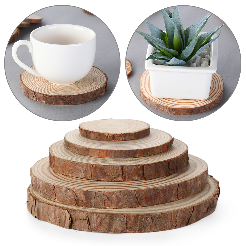 Coffee Mug Accessaries Coasters Cup-Pad Table-Mat Drinks-Holder Wooden Kitchen Round