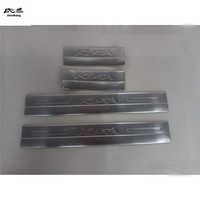 Free shipping for Ford KUGA 2013 2018 stainless steel scuff plate inside door sill 4pcs/set high quality