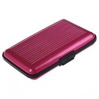 10pcs( ASDS Pink AlumInum Wallet CRedit Card Holder - FRID Blocking