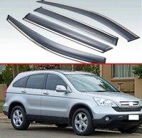 For Honda CRV CR-V 2007 2008 2009 2010 2011 Plastic Exterior Visor Vent Shades Window Sun Rain Guard Deflector 4pcs