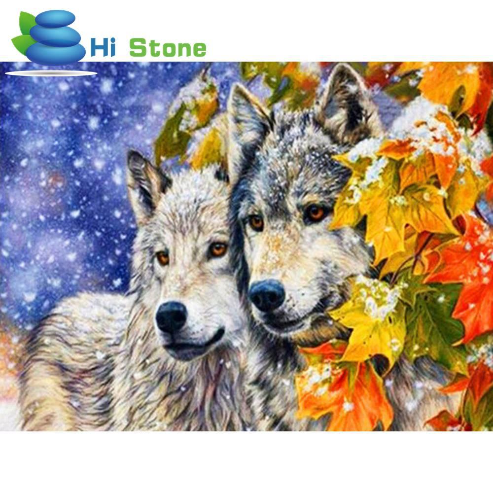 5D DIY алмаз волки животных вышивка крестом полный горный хрусталь мозаика Живопись Home Decor Рождественский подарок