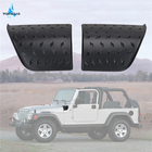 2x Black Side Cowl Cover Body Armor For Jeep Wrangler TJ 1997 - 2006 Car Stickers ABS Cowl Covers Diamond Plate Trim WISENGEAR /