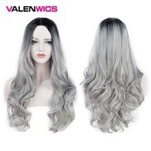 Парик valenwigs с эффектом омбре двухцветные синтетические парики