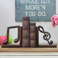 Antique Bronze Music Characters Bookshelves Home Decorations