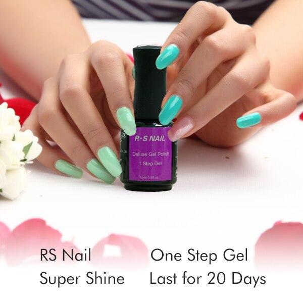 Rs Nail: RS NAIL 15ML One Step Uv Gel Nail Polish Set 3 In 1 Nail