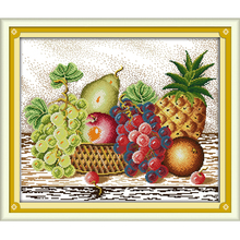 Joy Sunday Fruit 5 Patterns DIY Handmade Counted Cross stitch kit and Precise Printed Embroidery set Needlework DMC 14ct 11ct