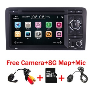 2DIN Car DVD GPS For Audi A3 S3 2002-2011 Canbus Radio GPS Bluetooth 1080P 3G USB Host Ipod Map(China)