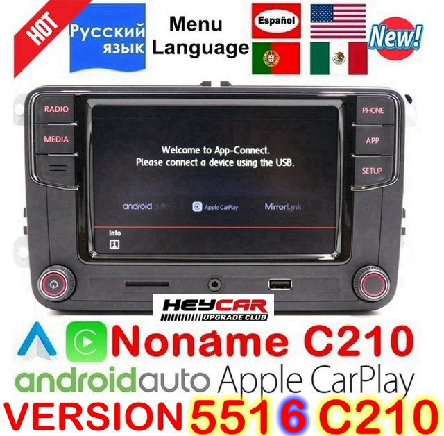 Android Auto Carplay Noname RCD330 Plus R340G MIB For VW Polo Golf 5 6 Passat B6