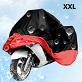 Brand New Black & Red Motorcycle Bike Moped Scooter Cover Durable XXL Waterproof Rain UV Dust Prevention Dustproof Covering