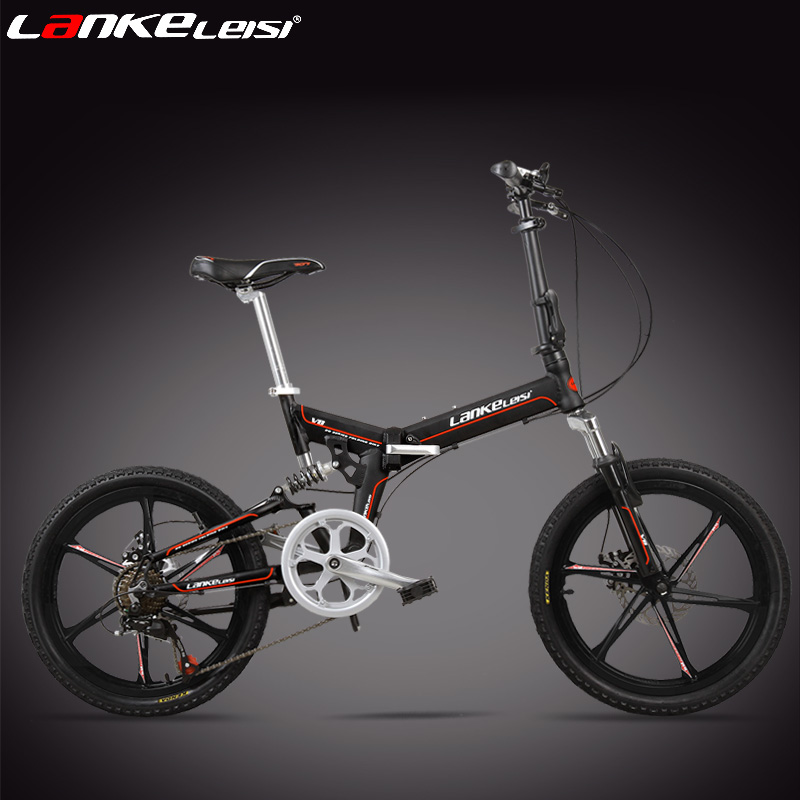 7 Speed, 20 inches, Folding Bike, Magnesium Alloy Rim, Front and Rear Disc Brake, Top Brand Speed Control System.