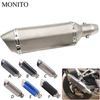 Universal Motorcycle Akrapovic Exhaust Dirt Bike Escape Modified Exhaust For Honda Hornet 250 CB 600F CBF600 CBR600F CB919