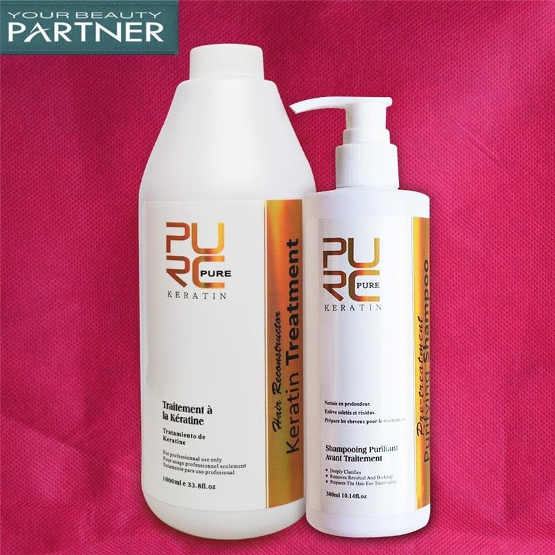 PURC Formaldéhyde Livraison Brésilien Kératine Défrisage Traitement Et Purifiant assortiment de shampooings Salon Soins Des Cheveux Produits Ensemble