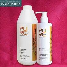 PURC Formaldehyde Free Brazilian Keratin Straightening Hair Treatment And Purifying Shampoo Set Salon Hair Care Products Set