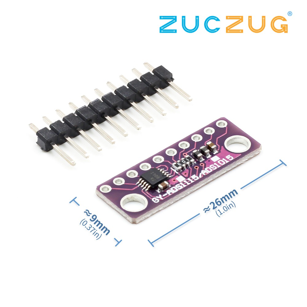 I2C ADS1115 16 Bit ADC 4 Channel Module With Programmable Gain Amplifier 2.0V To 5.5V
