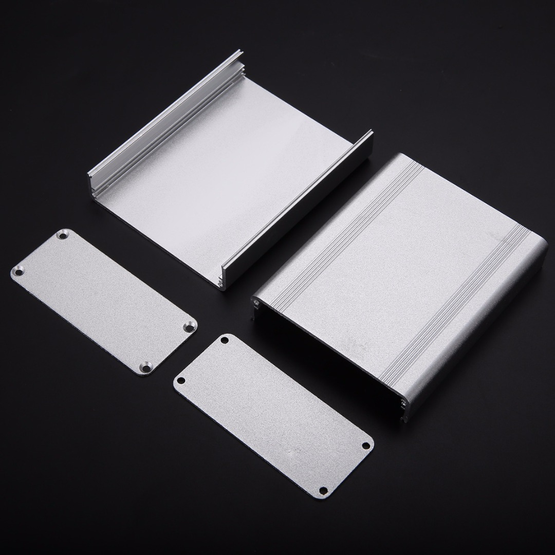 1pc Silver Split Body Electronic Project Case 110x88x38mm Extruded Aluminum Enclosure Box1pc Silver Split Body Electronic Project Case 110x88x38mm Extruded Aluminum Enclosure Box