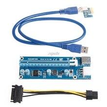 6Pin pci-e Экспресс 1X к 16x Extender адаптер Riser Card USB3.0 SATA Мощность CableDrop доставка