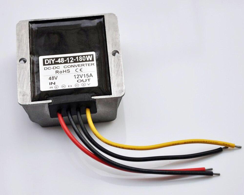 Converter Regulator 48V(30-60V) Step down to 12V 15A 180W DC/DC buck water proof dc dc converter regulator reducer 48v down to 12v 50a