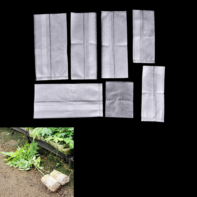 100Pcs Plant-Fiber Nursery Pots Seedling-Raising Bags Garden Supplies Can Degrade Environmental Protection Full All Size