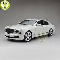1/18 Kyosho Bentley Mulsanne скорость литья под давлением Металл Модель автомобиля игрушка в подарок коллекция хобби белый