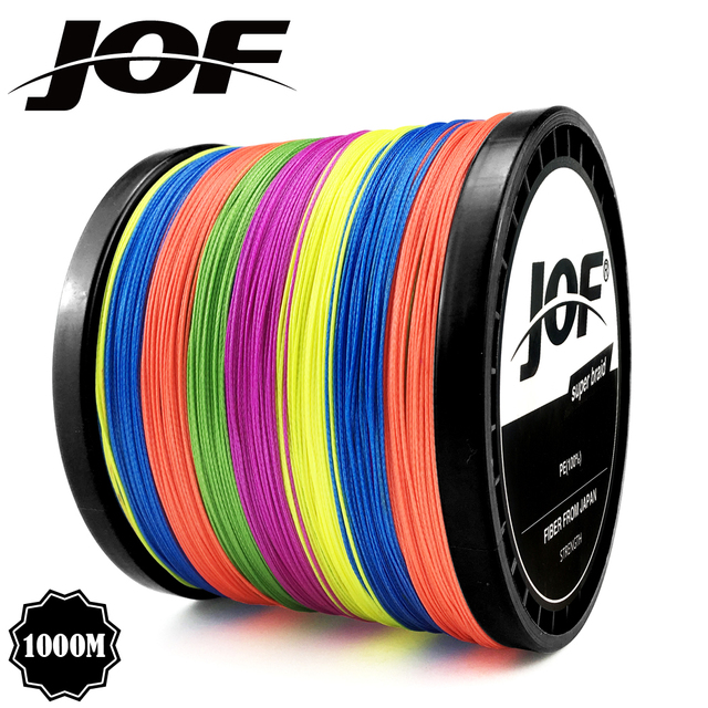 Multicolor 8 Strands 300M 500M 1000M PE Braid Fishing Line Sea Saltwater Fishing Weave 100% SuperPower JOF 3