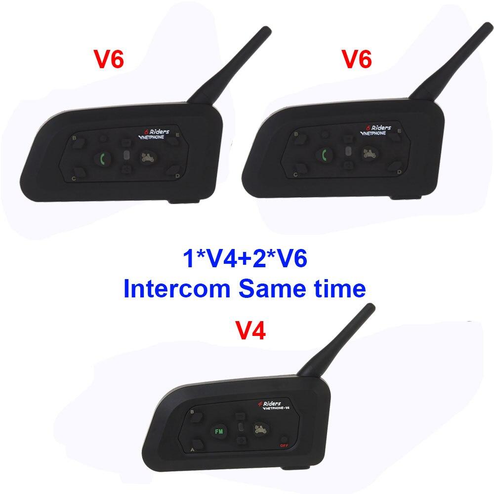 3 Pcs/Lot Vnetphone V4C + 2V6C pour Football arbitre écouteur étanche BT Interphone Football arbitre systèmes Interphone