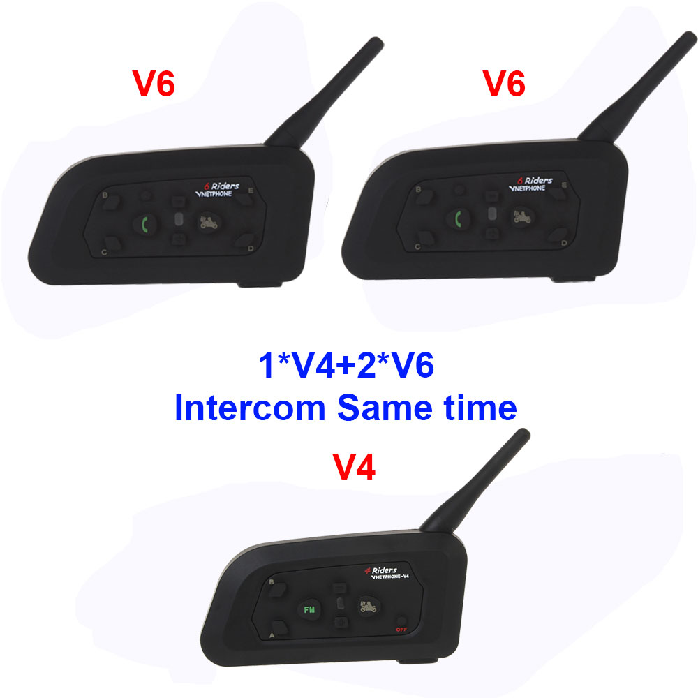 3Pcs/Lot Vnetphone V4C+2V6C For Football Referee Earpiece Waterproof BT Interphone Soccer Referee Intercom Systems Interphone