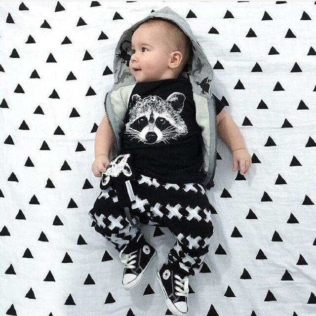 New Autumn Summer Baby Clothing Boys Short Sleeve Gary Fox Girls