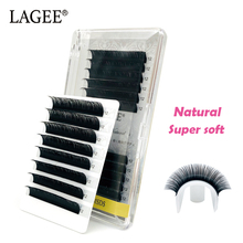 LAGEE 12Rows JBCD Curl Handmade Synthemic Mink Silk Eyelashes Extension Professional Natural Soft Individual Single False Lashes