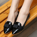 2016 Spring new style sweet ribbons women flats pointed toe butterfly-knot comfortable anti-skidding women flats ST746