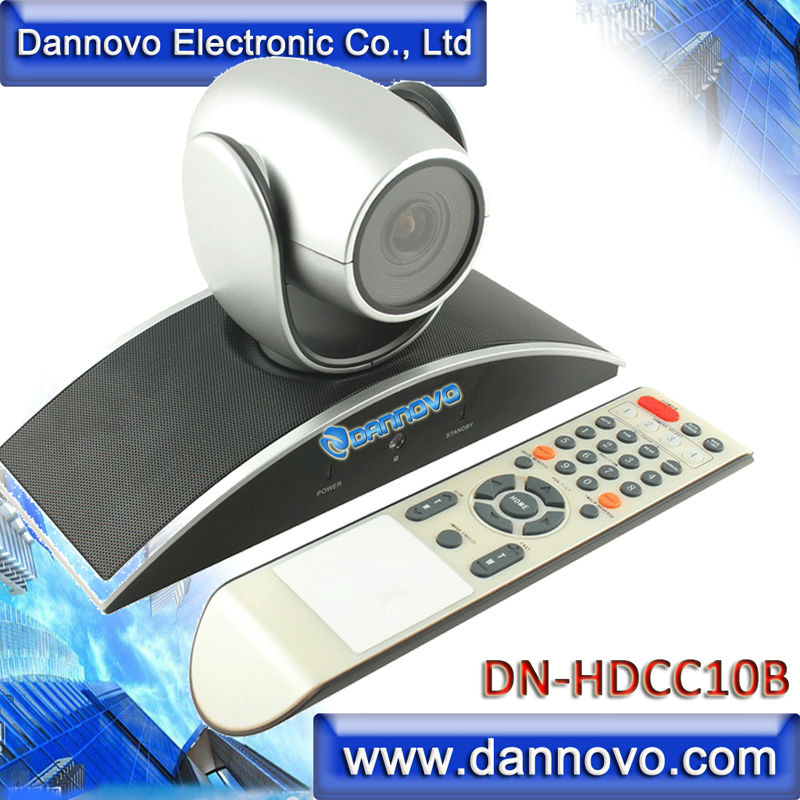 DANNOVO 720P USB PTZ Video Conference Room Camera,10x Optical Zoom, 360 Rotation,Support Skype,MSN,Lync