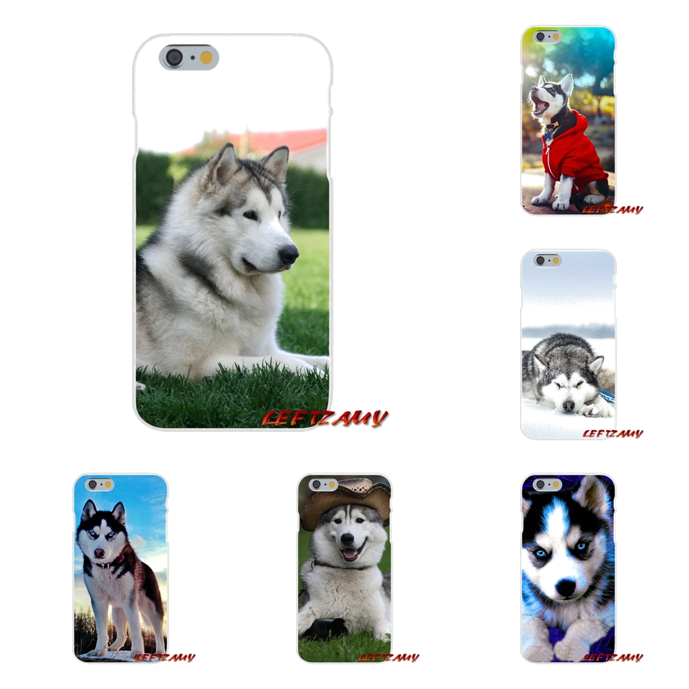 <font><b>Siberian</b></font> <font><b>Husky</b></font> Dog puppies For Xiaomi Mi6 Mi 6 A1 Max Mix 2 5X 6X Redmi Note 5 5A 4X 4A A4 4 3 Plus Pro Accessories Phone Covers image