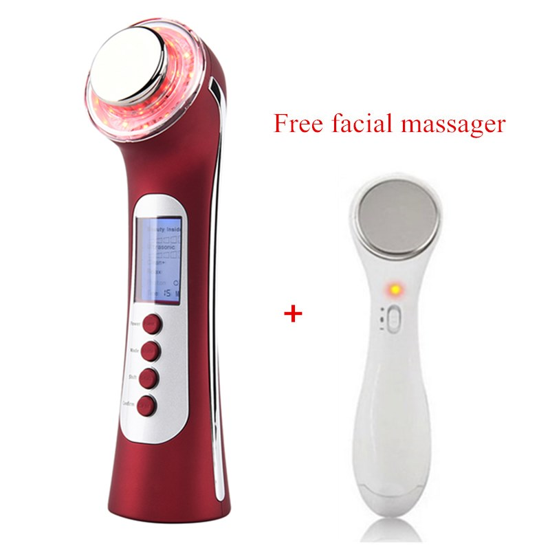 Galvanic Current Skin Cleaning Ultrasonic LED Photon Acne Wrinkle Treatment Skin Rejuvenation Face Lifting Beauty Instruments визитницы и кредитницы diesel x05079 p1506 t8013 page 6