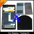100% Test Original For Sony Xperia Z1 LCD L39  Display Touch Screen Digitizer Assembly frame + Back Cover - Black/White/Purple