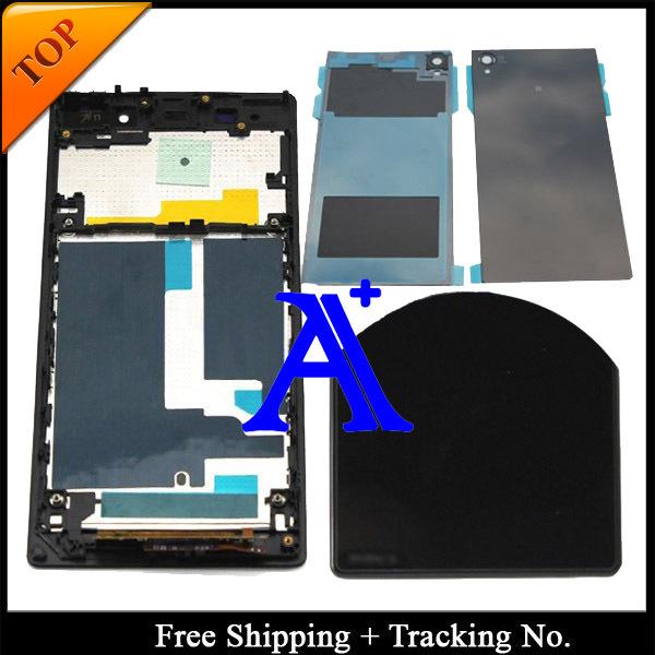 Original del 100% prueba para Sony Xperia Z1 LCD L39 pantalla táctil digitalizador asamblea frame + contraportada - negro / blanco / púrpura